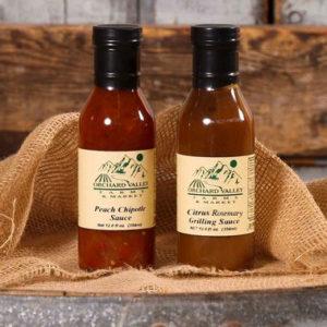 Peach-Chipotle-Citrus-Rosemary-Sauces